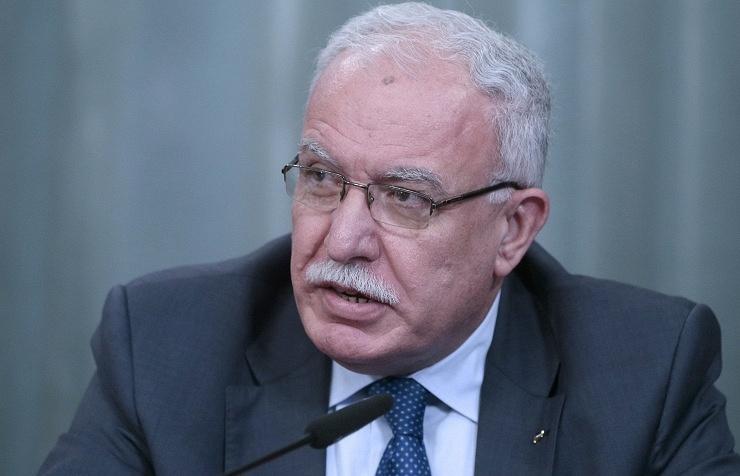 Palestinian Foreign Minister Riad al-Malki