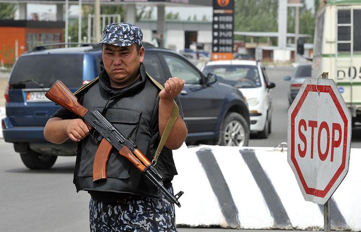 Kyrgyz police officer