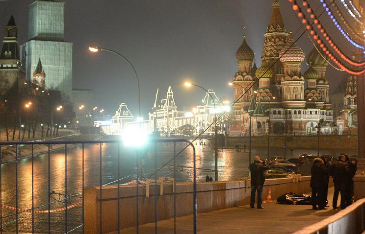 Murder site of Boris Nemtsov