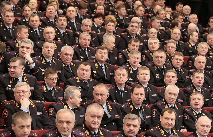 A meeting of the Russian Interior Ministry's Collegium