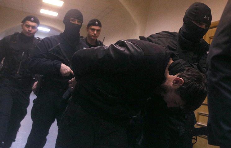 Zaur Dadayev being escorted to court