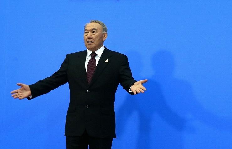Kazakh President Nursultan Nazarbayev