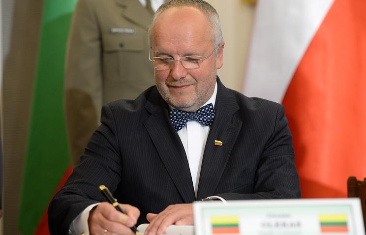Lithuanian Defense Minister Juozas Olekas
