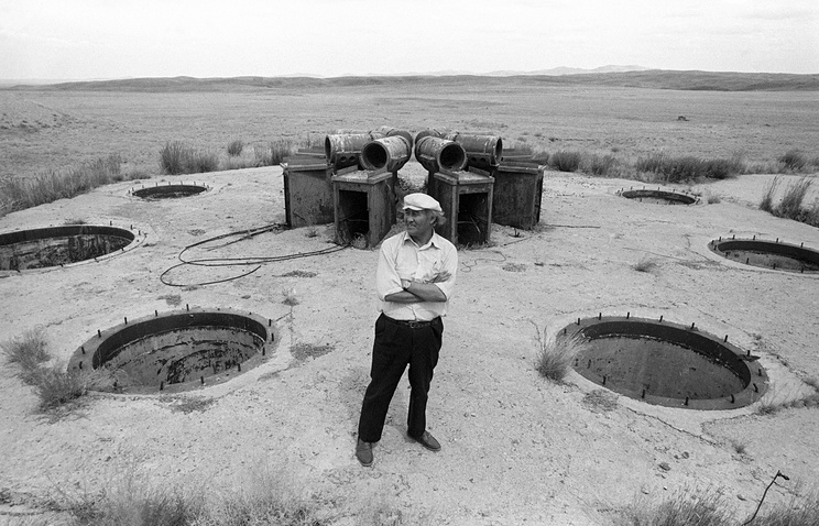 Former nuclear testing range in Semipalatinsk, Kazakhstan, 1990 (archive)