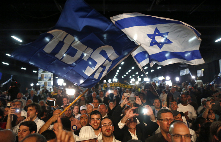 Supporters of Israeli PM Banjamin Natanyahu