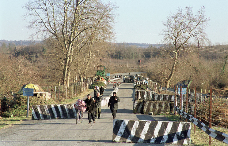 Border between Georgia and Abkhazia