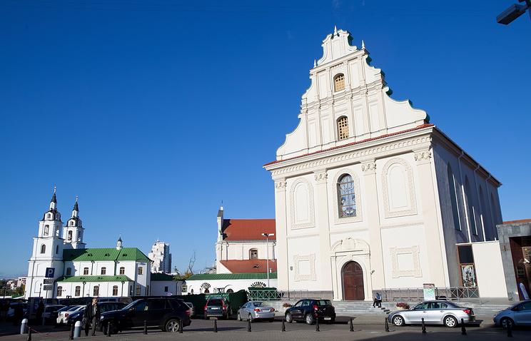 Svobody Square in Central Minsk, Belarus