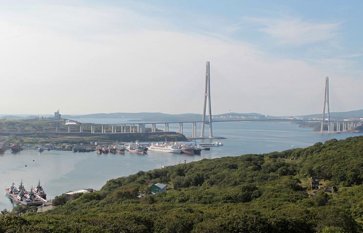 View over Vladivostok in Russia's Far East