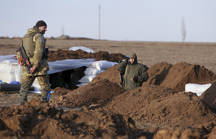 Ukrainian soldiers near Shirokino
