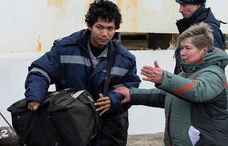 Sailor saved from Dalny Vostok trawler