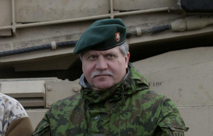 Lithuanian Army Commander Major-General Jonas Vytautas Zukas