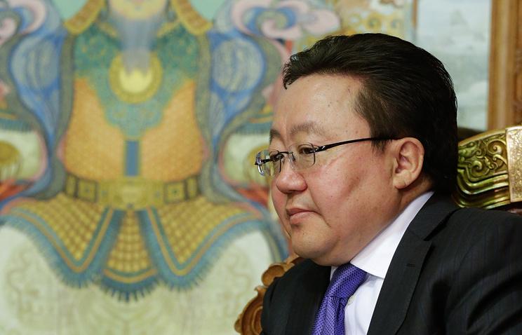 Mongolian President Tsakhiagiin Elbegdorj