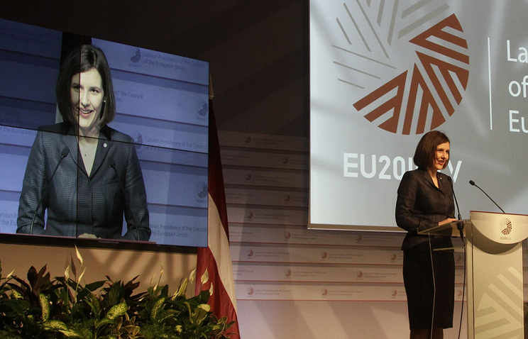 Latvian Economy Minister Dana Reizniece-Ozola