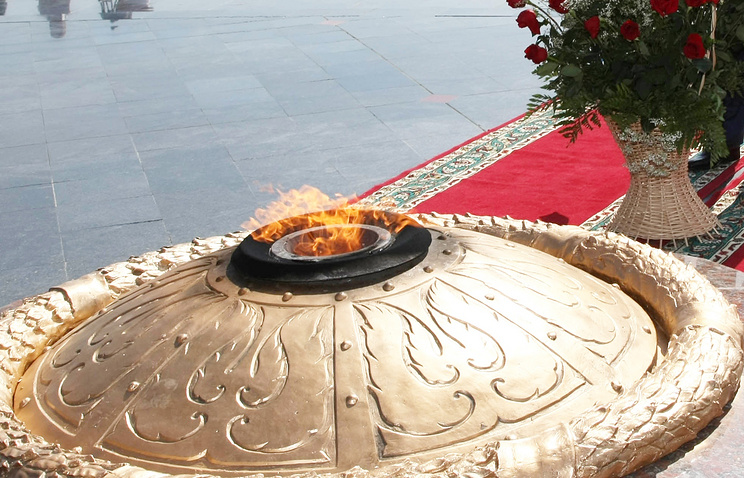 Eternal flame memorial in Astana