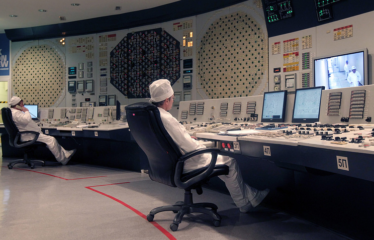 Central control room of Smolensk NPP second power unit