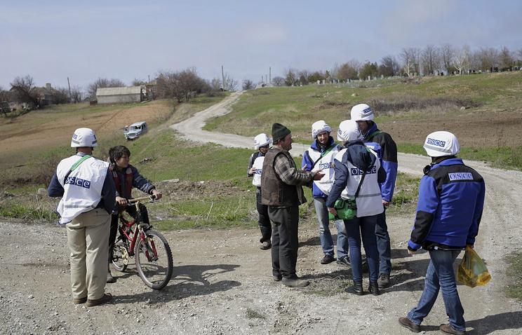 OSCE observers in east Ukraine