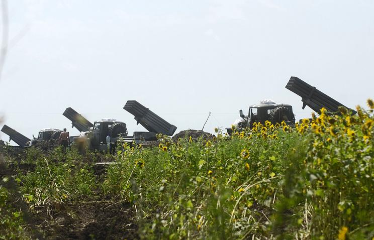 Ukrainian Grad multiple rocket launchers (archive)