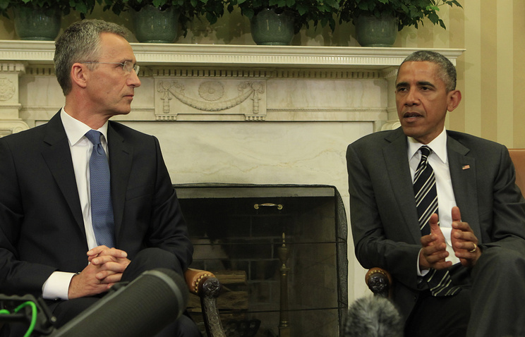 US President Barack Obama and NATO Secretary General Jens Stoltenberg
