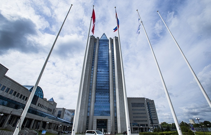 Headquarters of Russia's natural gas giant Gazprom