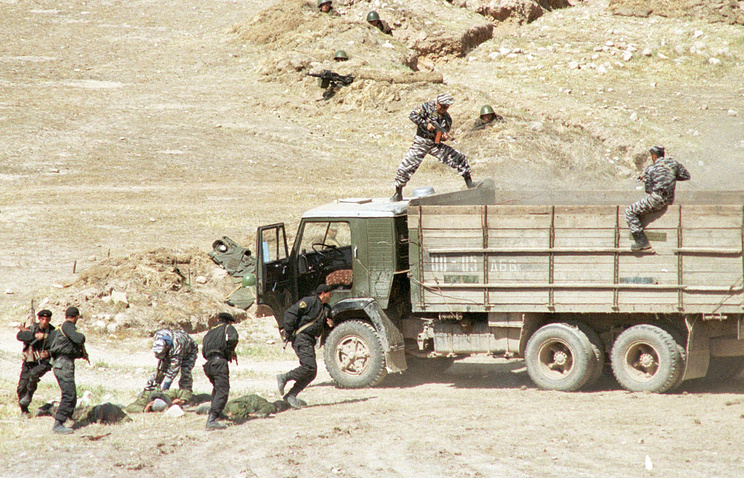 Tajikistani special forces during military exercises