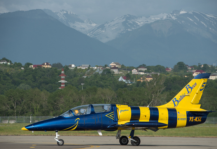 "Pilot group ""Baltic Bees"" in Sochi"