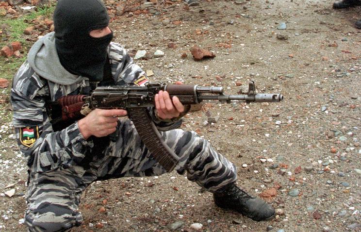 Tajikistan's riot police officer