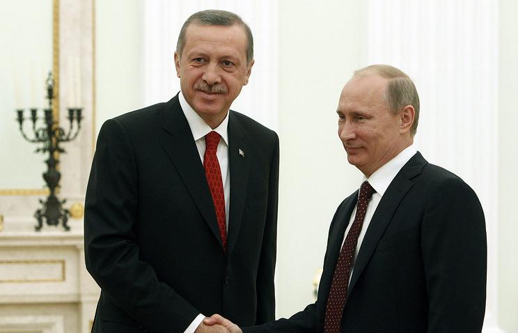 Turkish and Russian presidents, Recep Tayyip Erdogan and Vladimir Putin