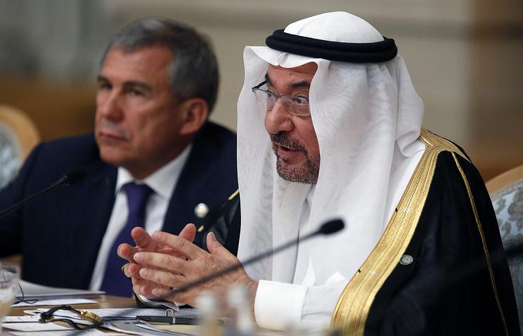 Chairman of Organization of Islamic Cooperation Iyad Madani (right)