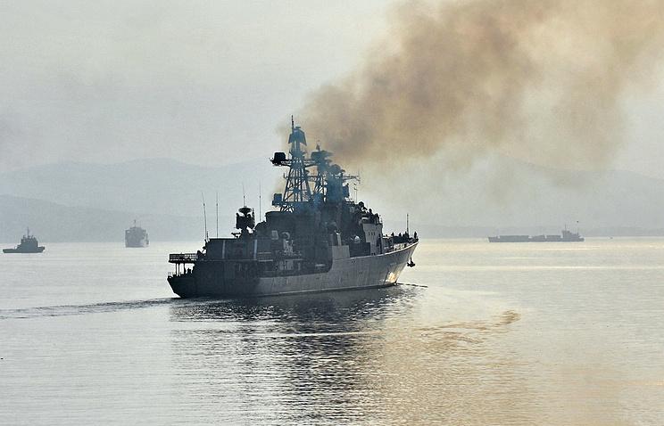 Russia's Pacific Fleet ship