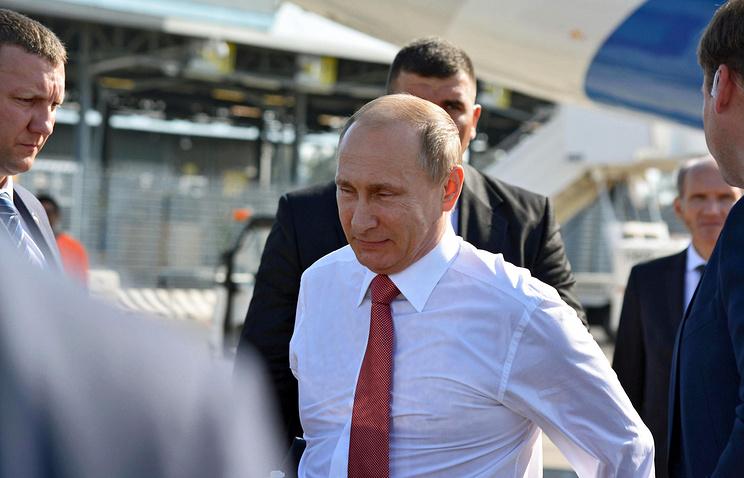Russian President Vladimir Putin in Italy, June 10