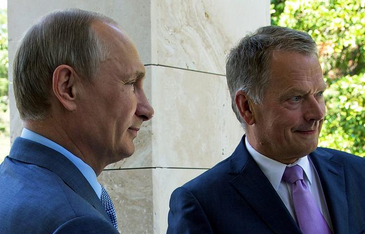 Vladimir Putin and Sauli Niinisto