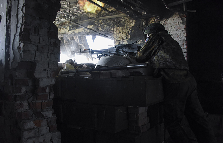 A militia fighter in eastern Ukraine