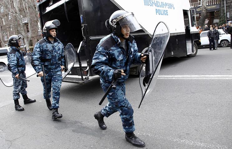Armenian police officers