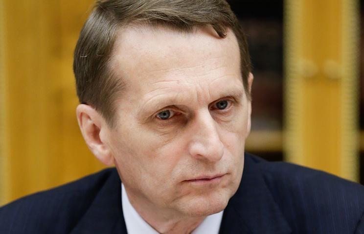 Speaker of Russia's lower house of parliament, Sergey Naryshkin