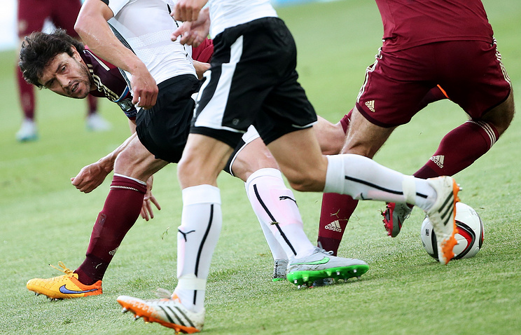 Russia-Austria 2016 UEFA European Championship Qualifying football match