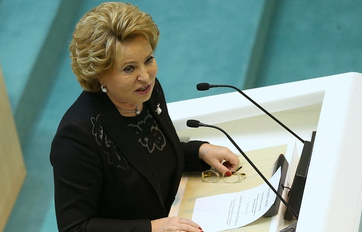 Federation Council speaker Valentina Matviyenko