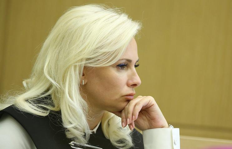 Olga Kovitidi, a member of the Russian parliament's upper parliament house, the Federation Council, representing the republic of Crimea
