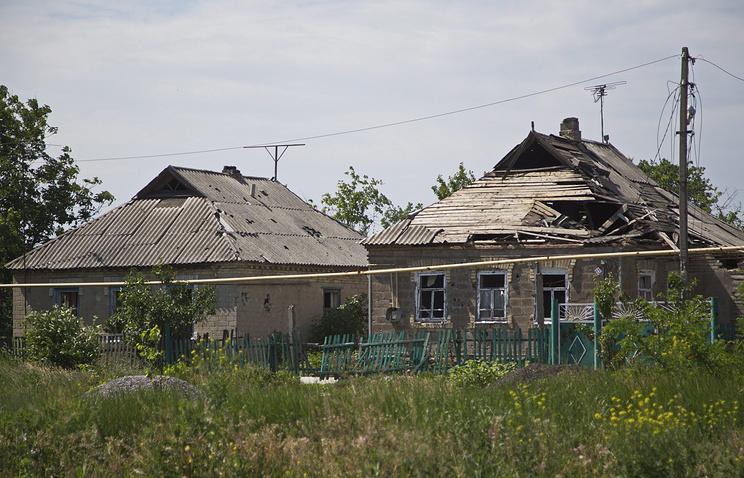 Aftermath of shelling in Donetsk region
