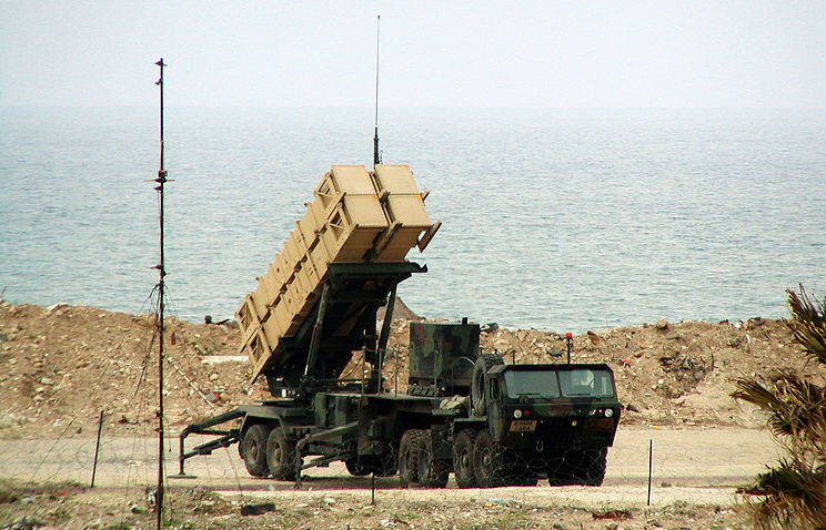 US Patriot anti-aircraft missile system in Israel