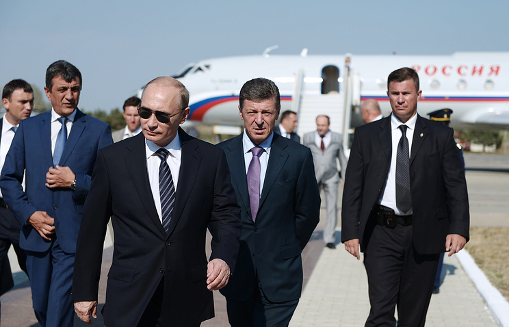 Russian President Vladimir Putin at the Belbek airport, Crimea