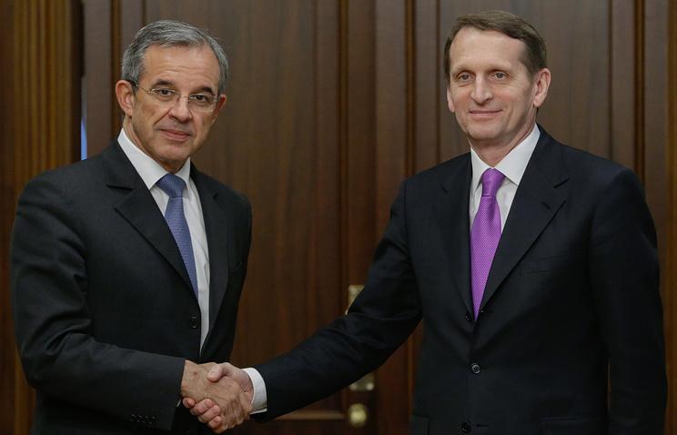 Thierry Mariani and Sergey Naryshkin