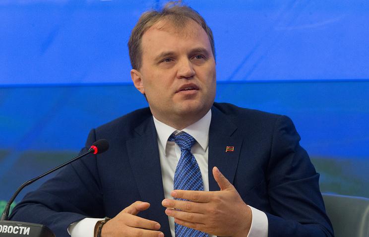 Transdniestria's leader Yevgeny Shevchuk