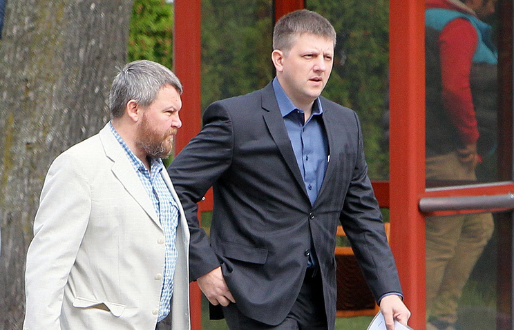 Chairmen of the People's Councils of the self-proclaimed LPR, DPR republics Andrey Purgin and Alexey Karyakin