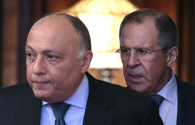 Egyptian and Russian Foreign Ministers Sameh Shoukry and Sergey Lavrov (archive)