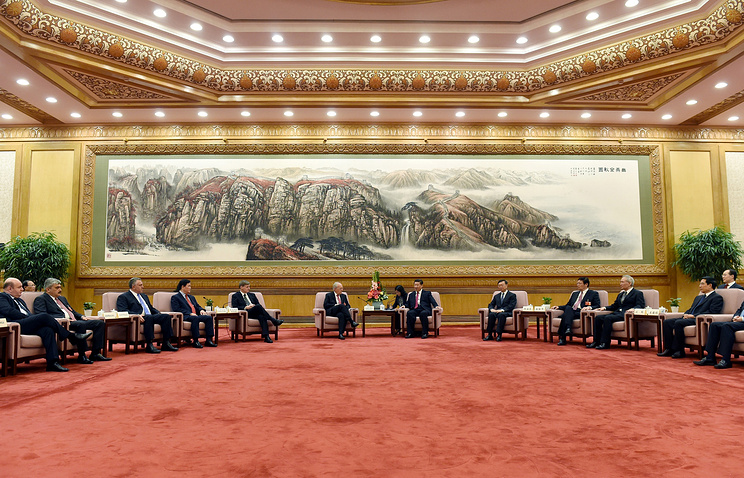 Meeting of delegates at the signing ceremony for the Articles of Agreement of the AIIB in Beijing (archive)