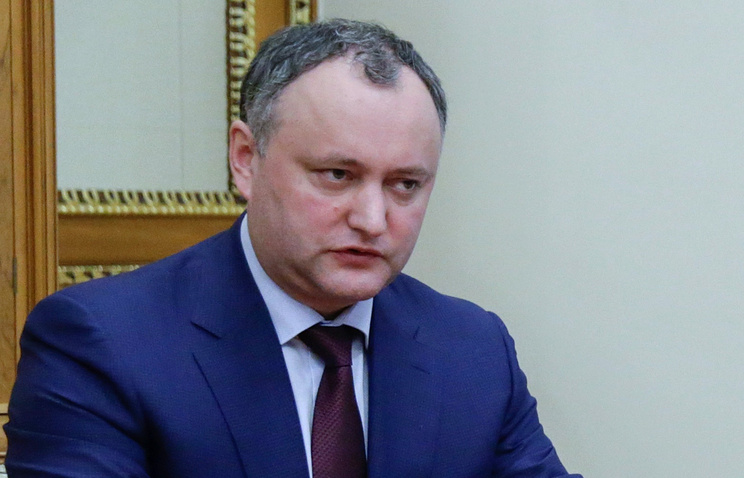 Leader of Moldovan Party of Socialists Igor Dodon