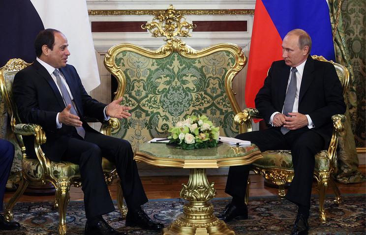 Abdel-Fattah el-Sisi and Vladimir Putin