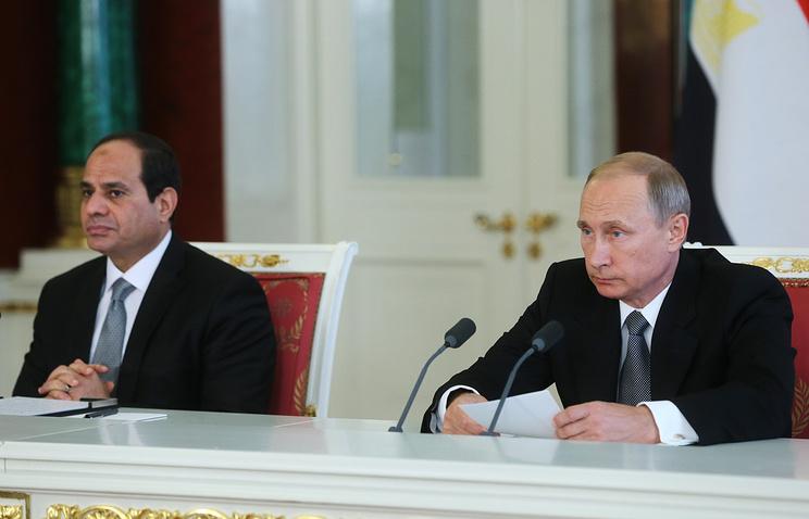 Egyptian President Abdel Fattah el-Sisi and Russian President Vladimir Putin