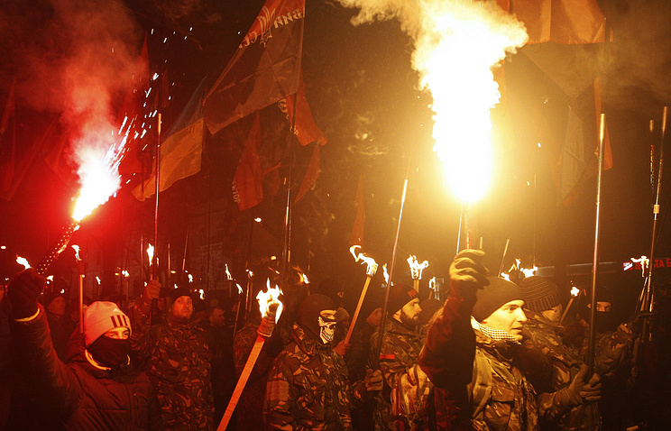 Ukrainian nationalists march in Kiev (archive)