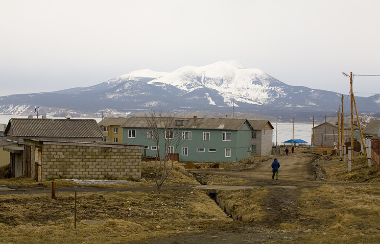 A view of Kunashir Island